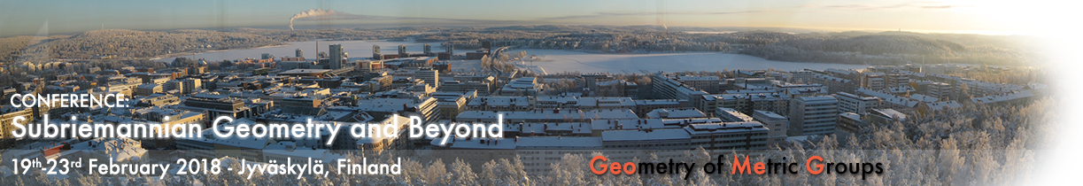 Conference: Subriemannian Geometry and Beyond, Jyväskylä